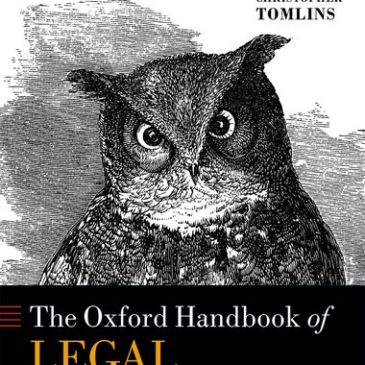 The Oxford Handbook of Legal History. Markus D. Dubber and Christopher Tomlins, eds (Oxford University Press, 2018).