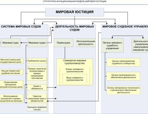 мировая юстиция в схемах (элементы)