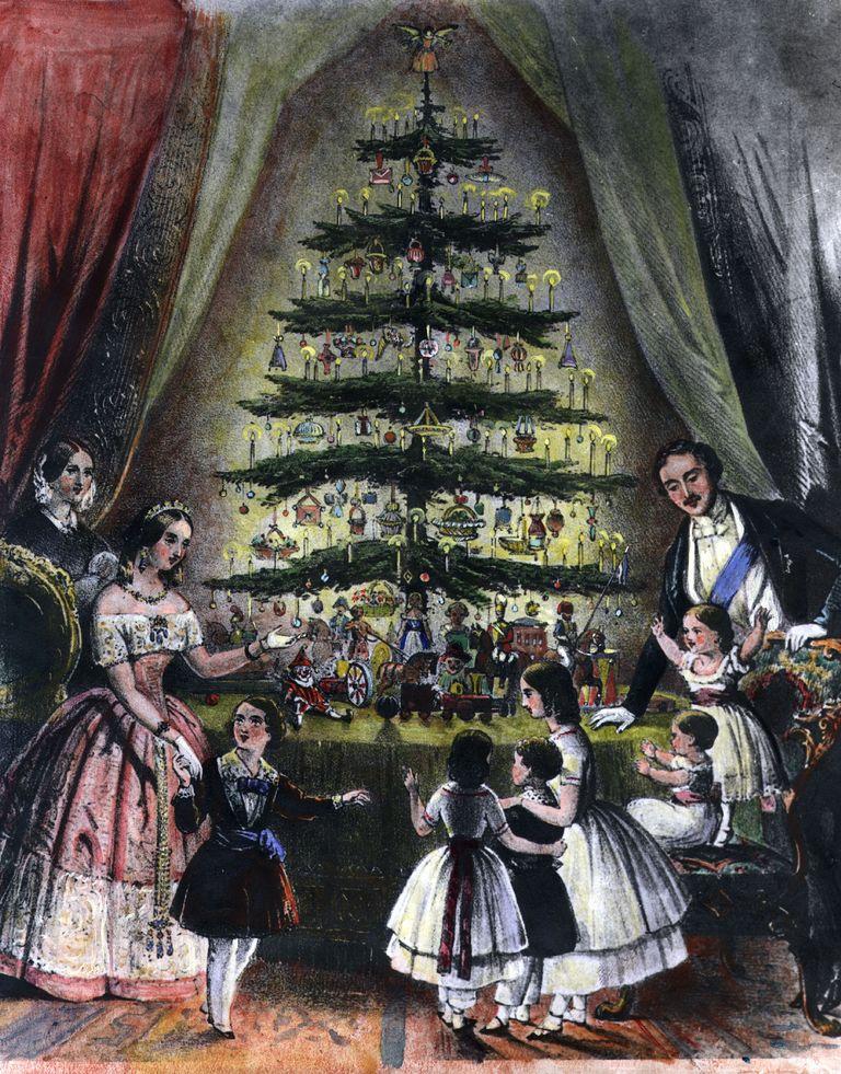 королевская семья и елка